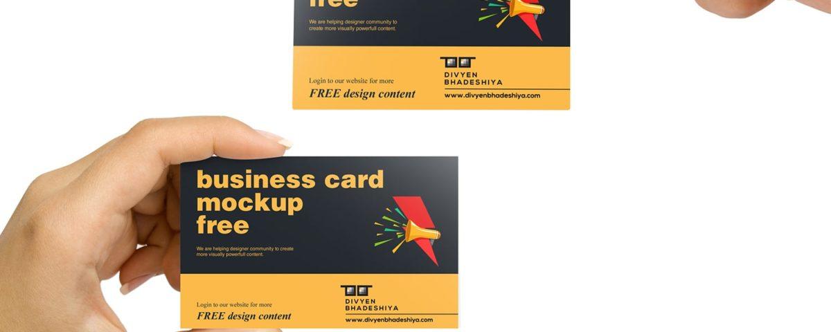 Business Card Mockup Free - www.divyenbhadeshiya.com