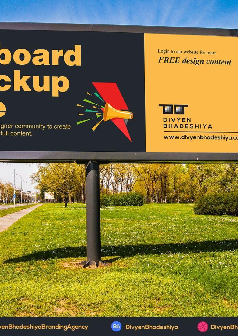 billboard 01 mockup free - www.divyenbhadeshiya.com
