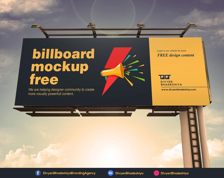 billboard 02 mockup free - www.divyenbhadeshiya.com