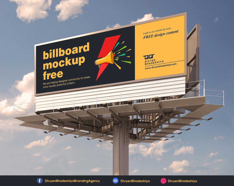 billboard 03 mockup free - www.divyenbhadeshiya.com
