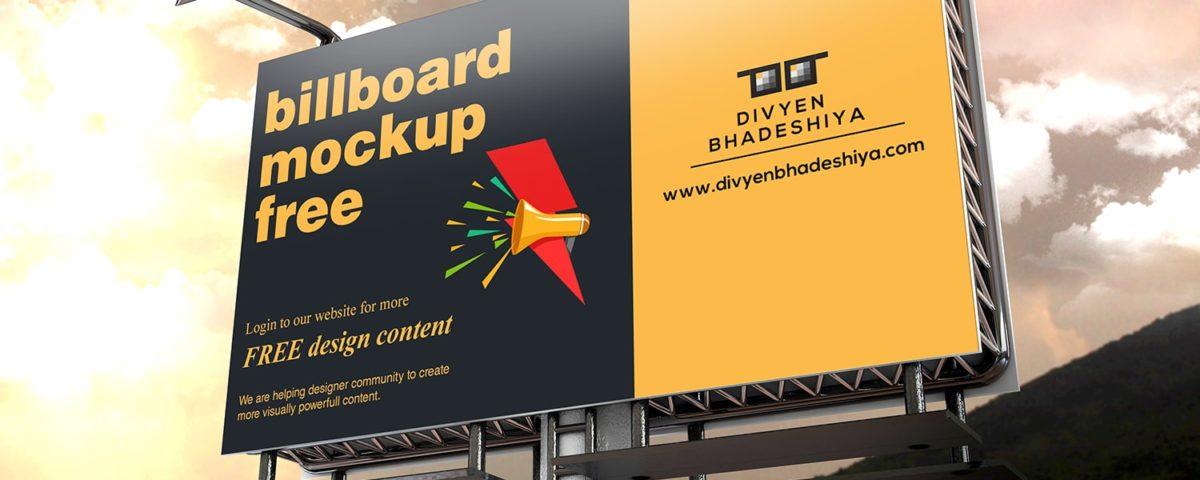 Billboard Mockup 04 PSD Free Download
