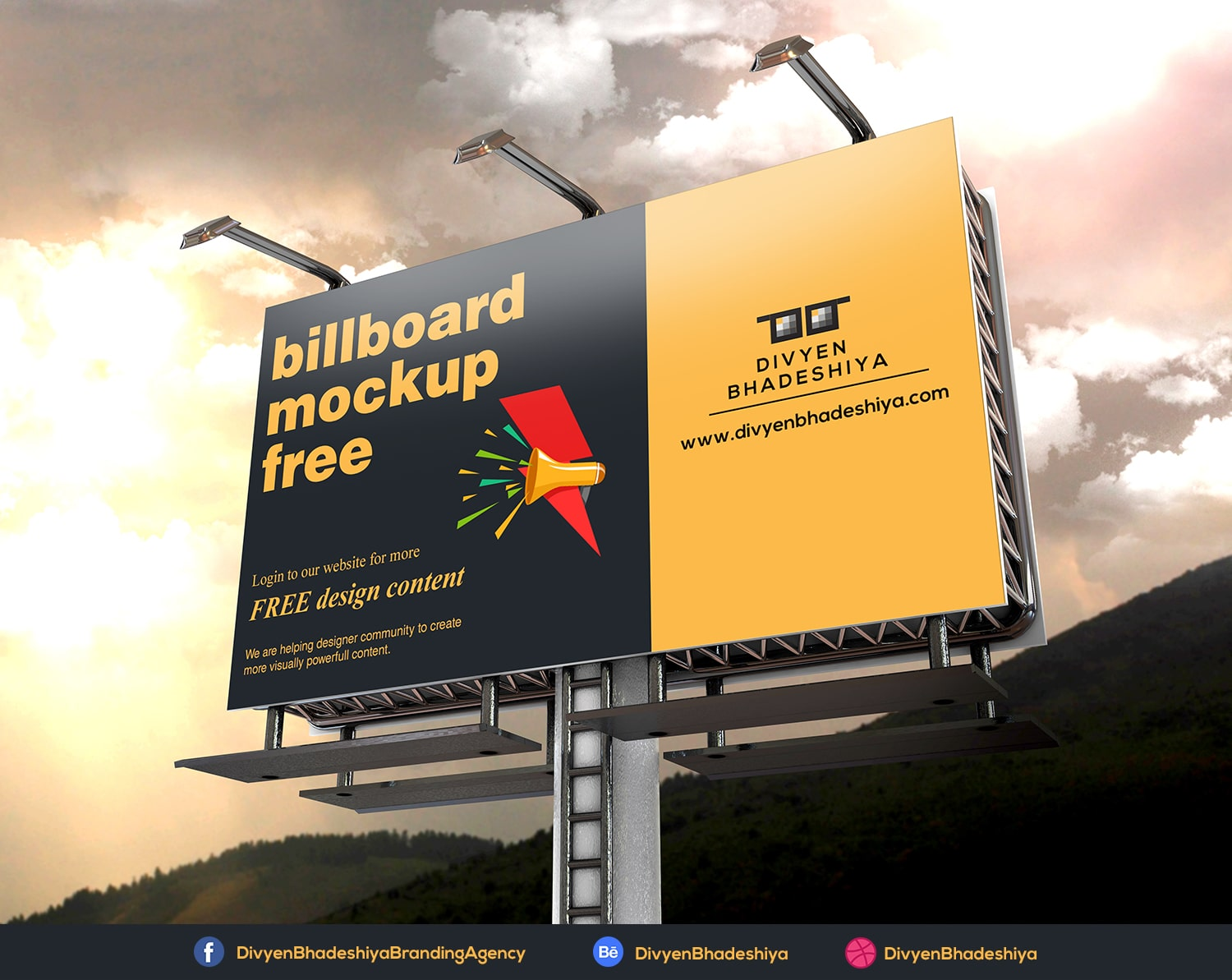 Billboard Mockup 04 PSD Free Download
