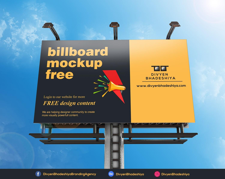 billboard mockup 05 free www.divyenbhadeshiya.com