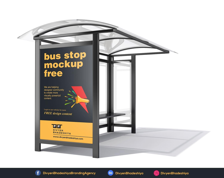 bus stop mockup 02 free www.divyenbhadeshiya.com