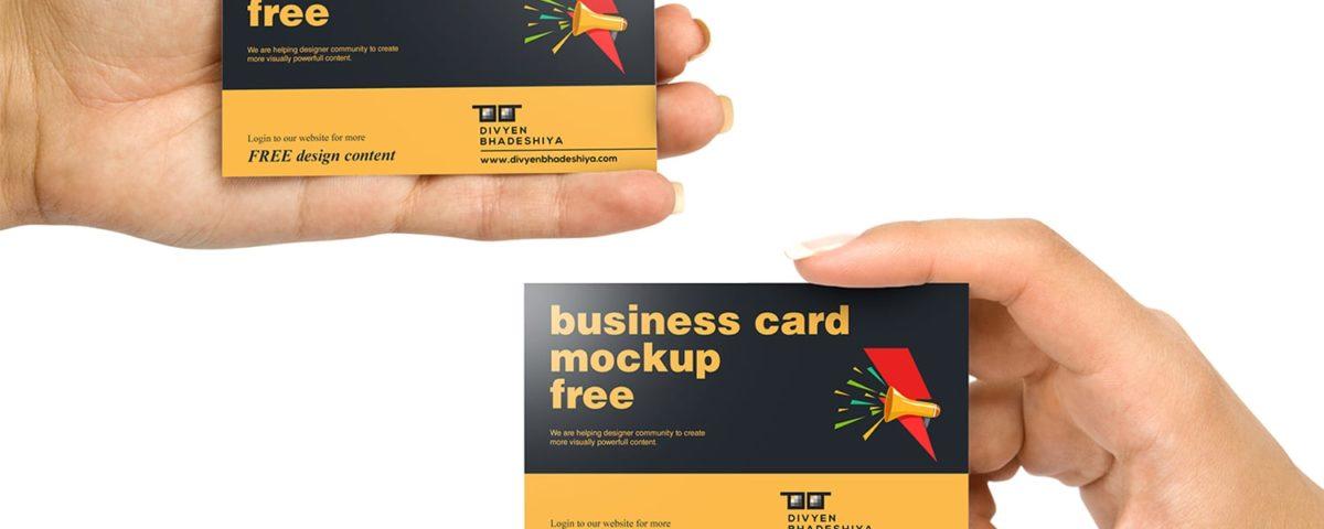 horizontal 01 business card mockup free www.divyenbhadeshiya.com