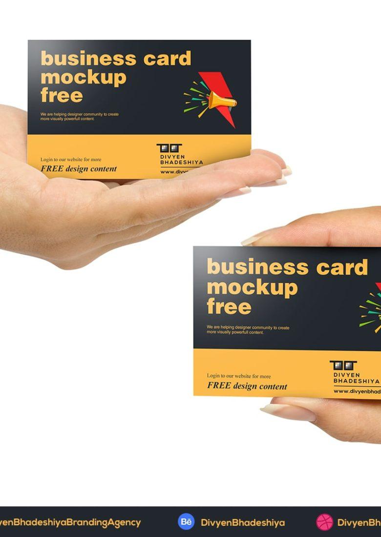 horizontal 02 business card mockup free www.divyenbhadeshiya.com
